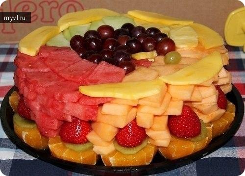 Вкусный торт фруктами рецепт фото